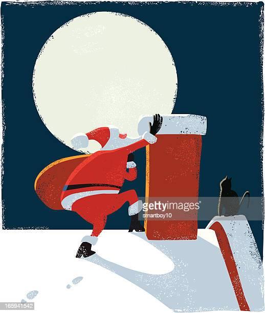 Santa Claus Klettern Kamin