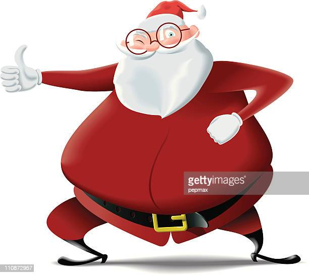 Santa Claus doing thumbs up sign