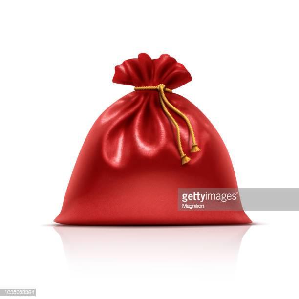 サンタ クロース ギフト バッグ - 布の袋点のイラスト素材/クリップアート素材/マンガ素材/アイコン素材