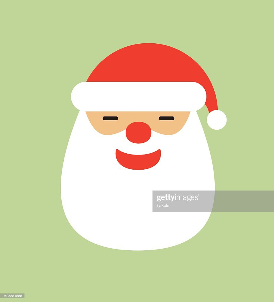 02f851171c18c Santa Claus Hat And Beard Vector Illustration stock vector - Getty ...