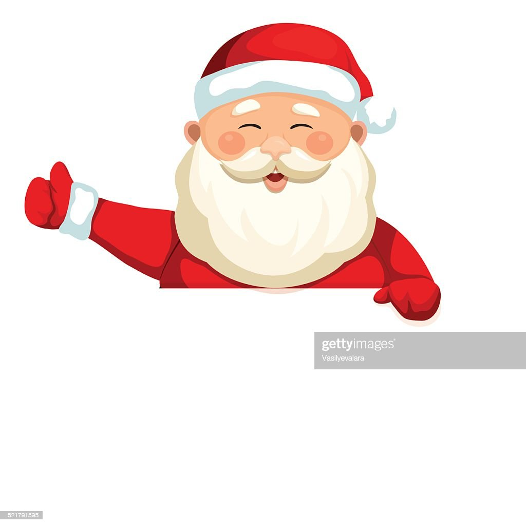 Santa Claus holding a blank sign 3