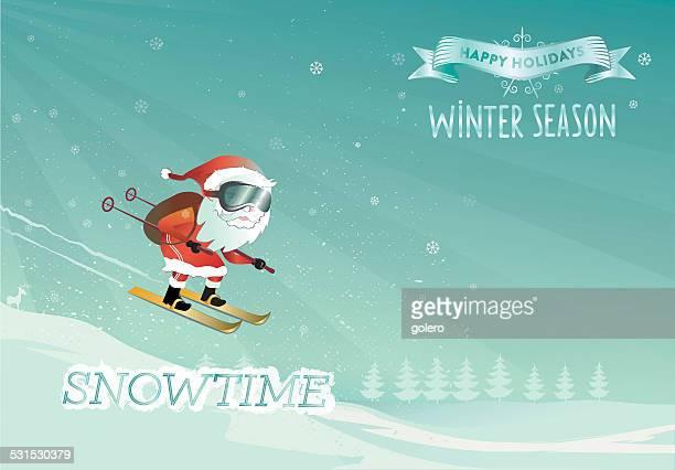santa claus in winter holidays