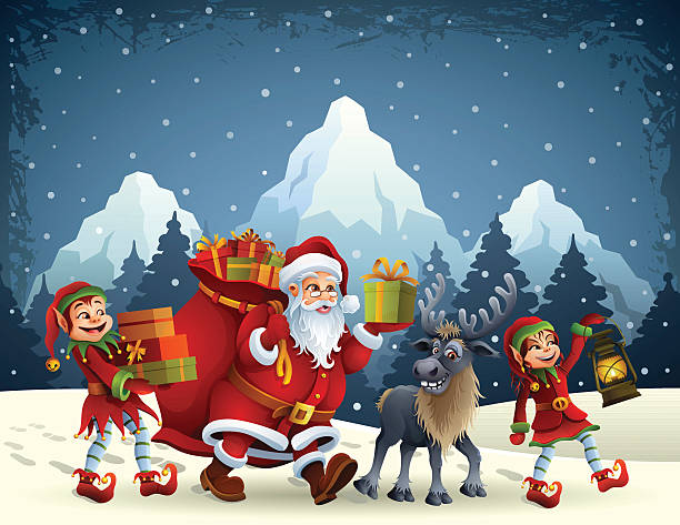 Santa Claus Is Coming Wall Art