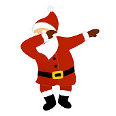 Santa claus making dab dance.