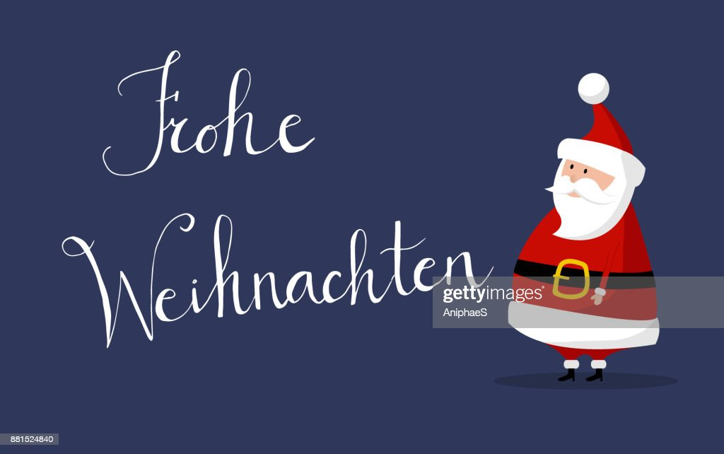 Santa claus merry christmas wishes as frohe weihnachten in german santa claus merry christmas wishes as frohe weihnachten in german vector m4hsunfo
