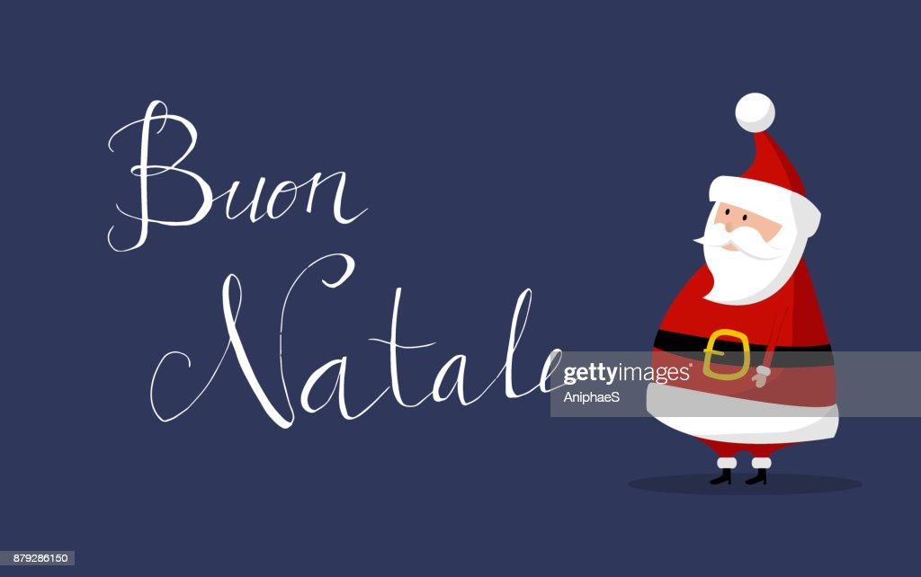 Santa claus merry christmas wishes buon natale in italian vector art santa claus merry christmas wishes buon natale in italian m4hsunfo