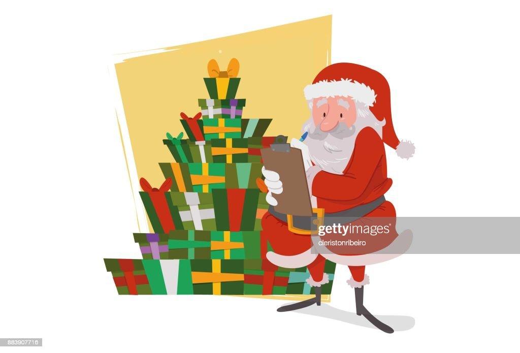 Santa Claus, o papai Noel : Stock Illustration