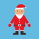 Santa Claus of Christmas and New Year happy greeting vector figure.