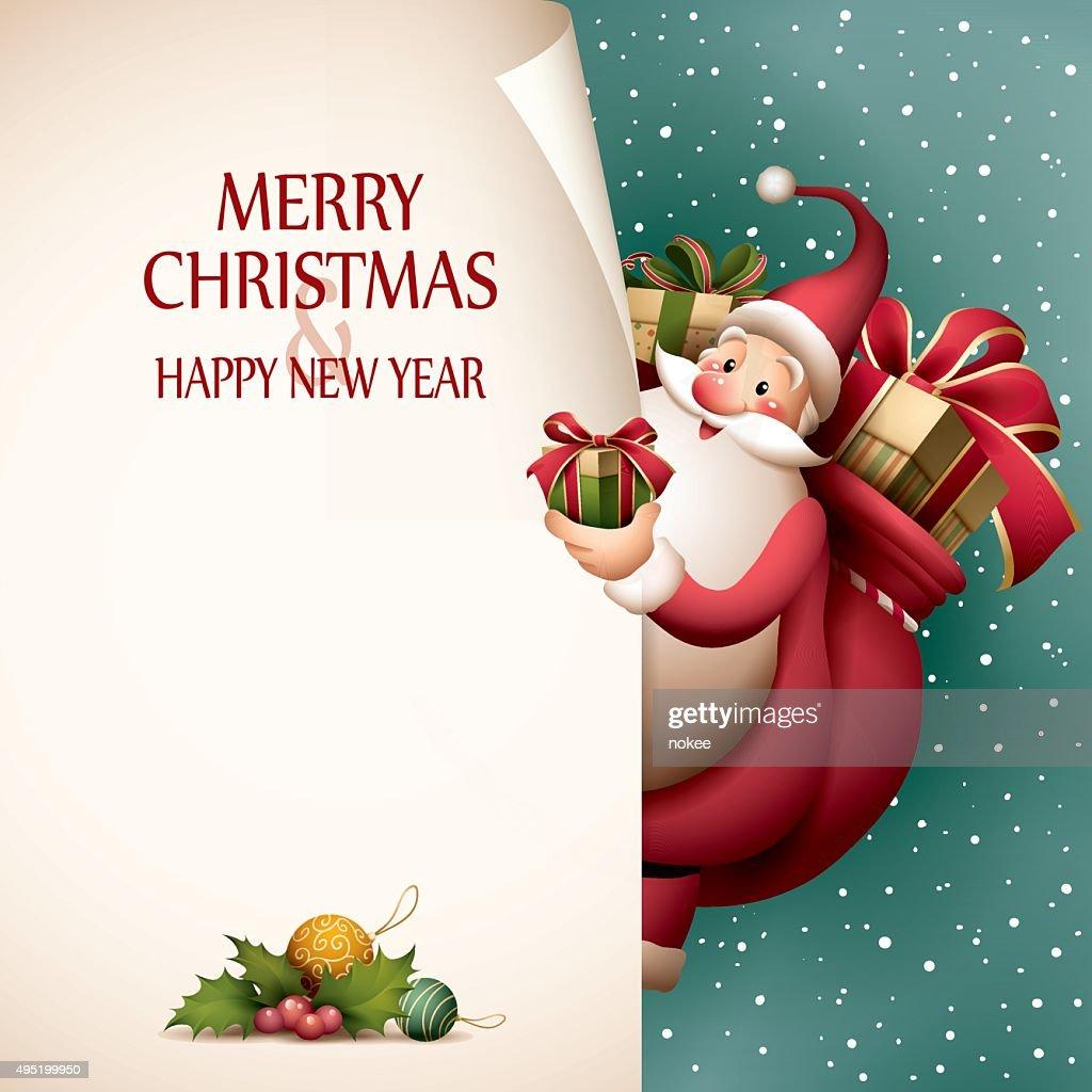 Santa Claus - page curl