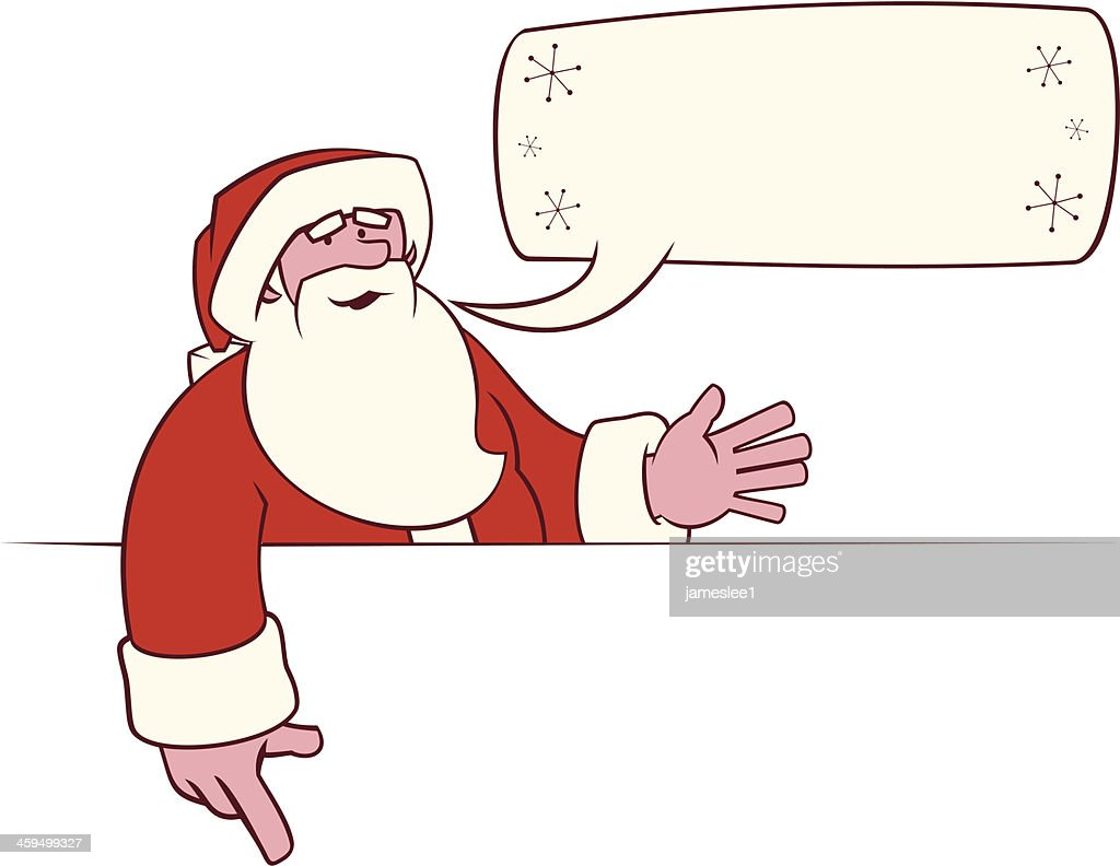 santa claus sign vector art getty images