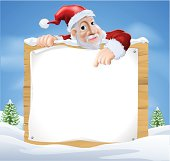 Santa Claus Sign Winter scene