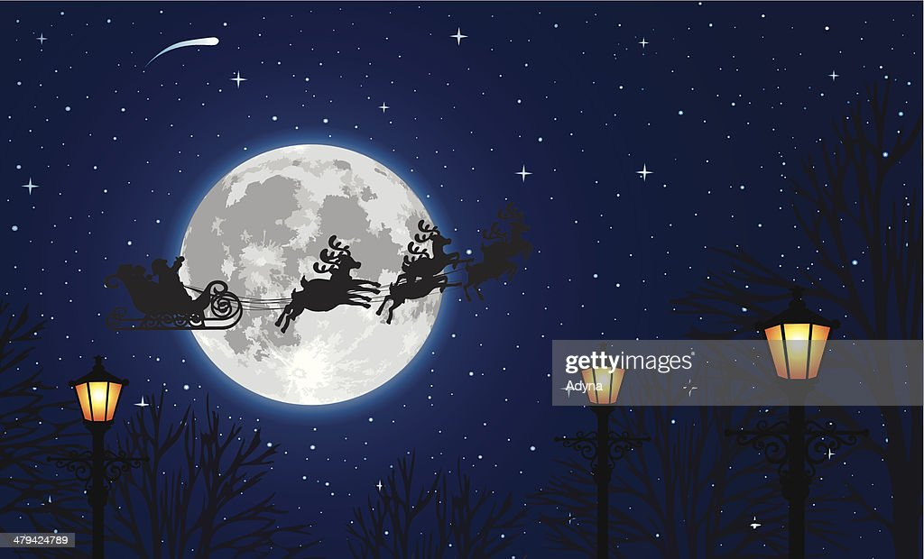 Santa Claus Sleigh : stock illustration