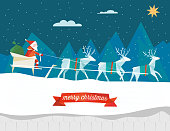 polygonal flat christmas illustration santa claus