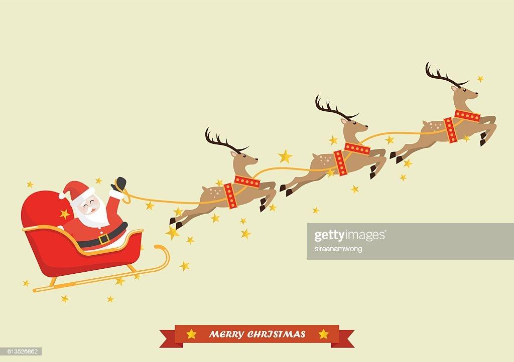 Santa Claus with Reindeer Sleigh