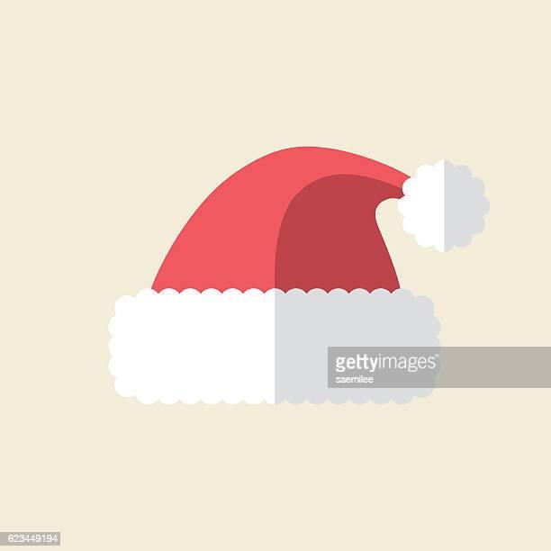 santa hat icon - santa hat stock illustrations