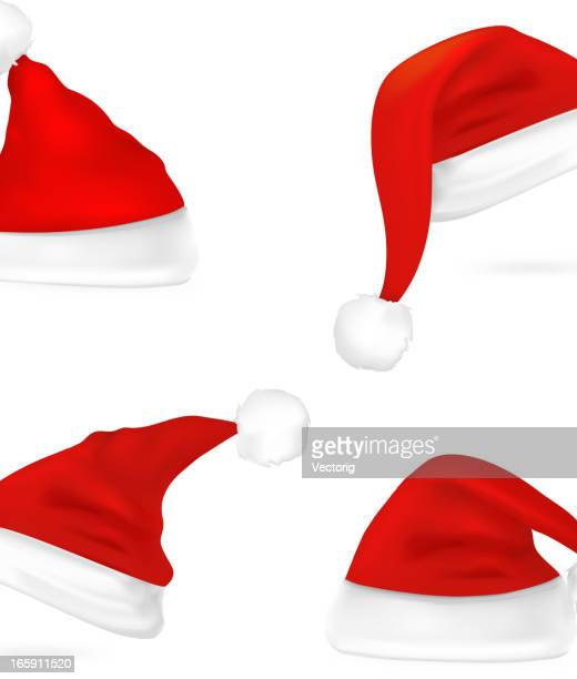 santa hat - hat stock illustrations