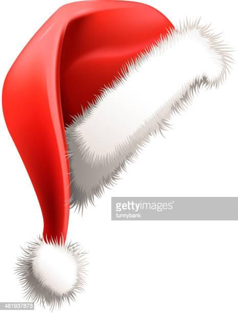 santa hat - santa hat stock illustrations