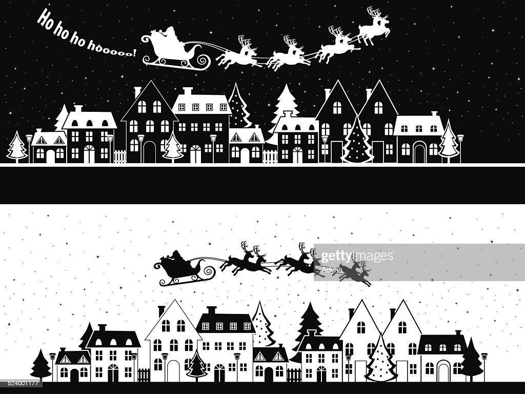Santa is Coming : stock illustration