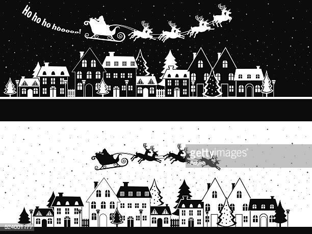 santa is coming - sleigh stock illustrations