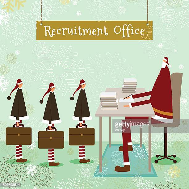 santa klaus christmas elf business employment concept