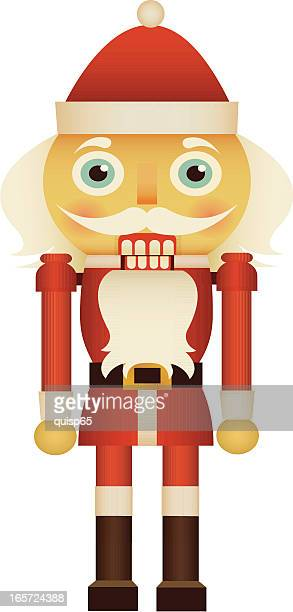 santa nutcracker - figurine stock illustrations, clip art, cartoons, & icons