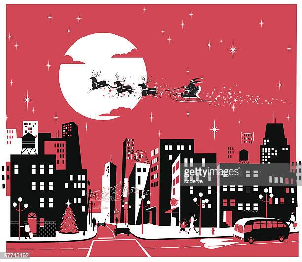 Santa over the City