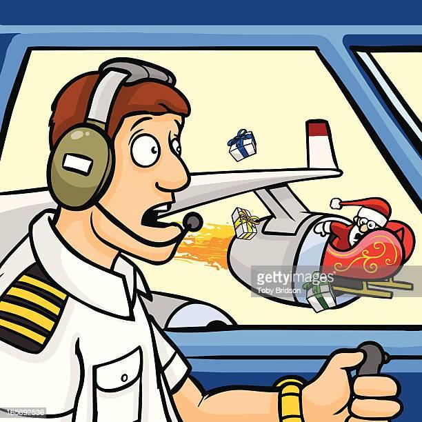 illustrations, cliparts, dessins animés et icônes de santa avion accident - catastrophe aérienne