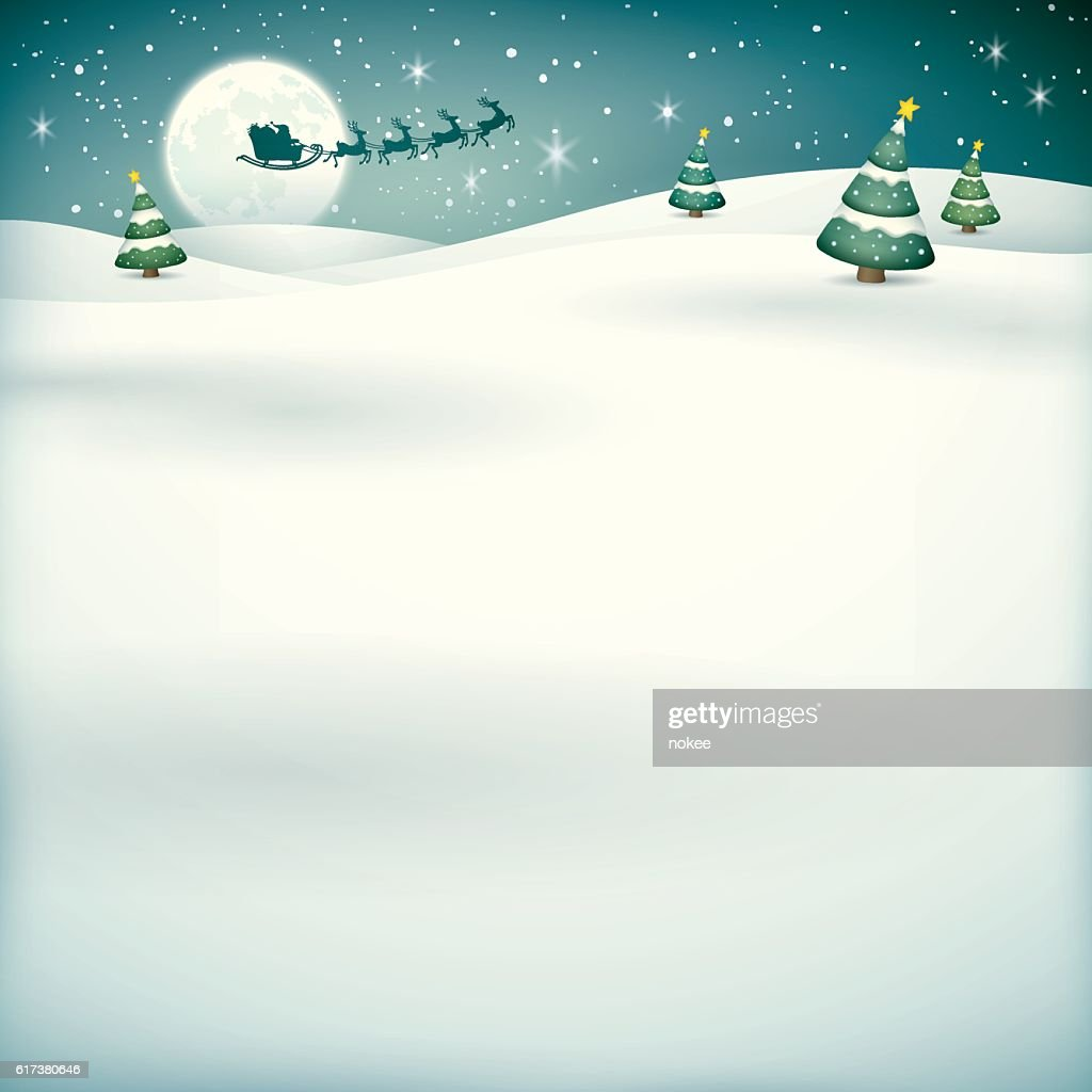 Santa sleigh reindeer background