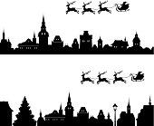 Santa sleigh silhouette