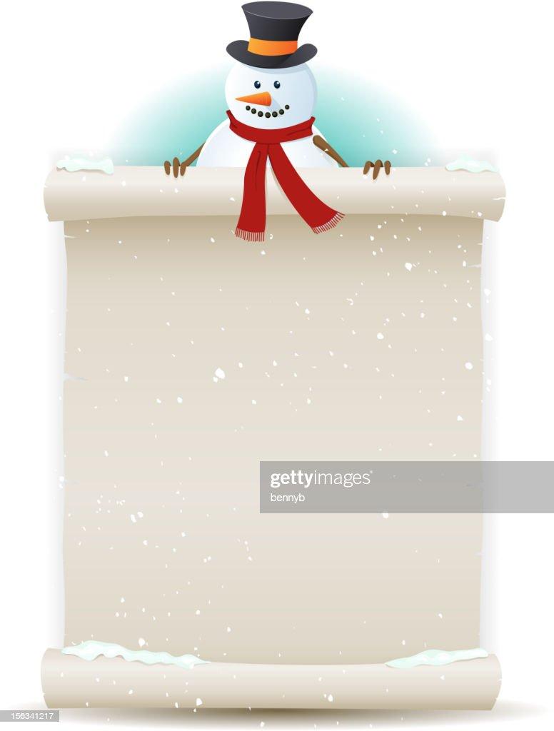 Santa Snowman Background