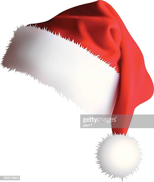santa's cap (vector + xxxl jpg) - hat stock illustrations