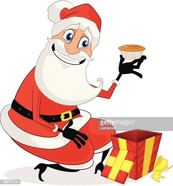 santa's gift -  mince pie! - ground beef stock illustrations, clip art, cartoons, & icons