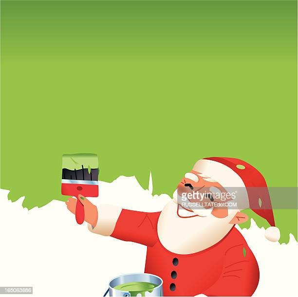 Santa's green message