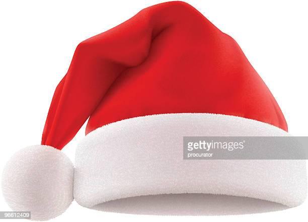 santa's hat - santa hat stock illustrations