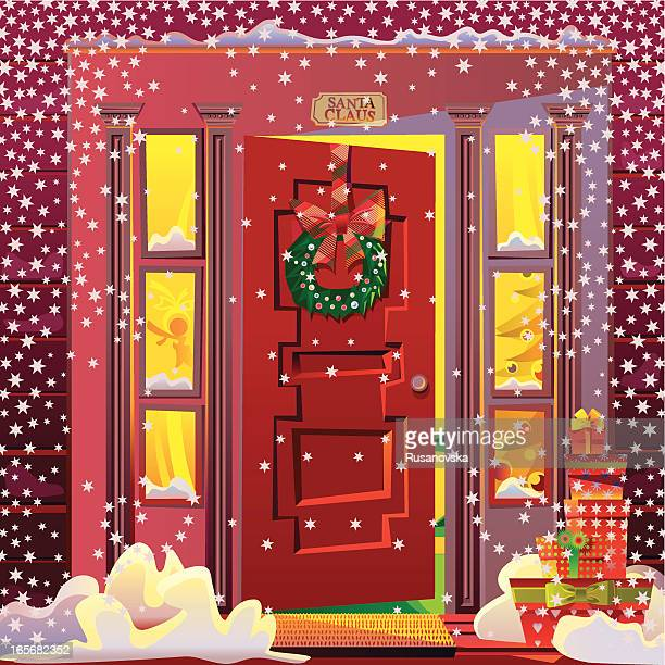santa's house - north pole stock illustrations, clip art, cartoons, & icons