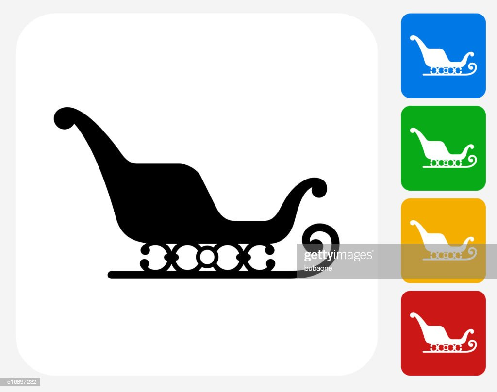 Santa's Slay Icon Flat Graphic Design