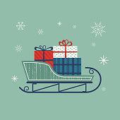 Santa's sleigh icon.