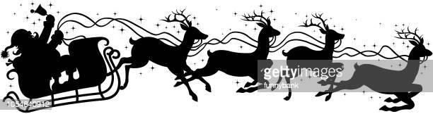 santa's sleigh sign - sleigh stock illustrations