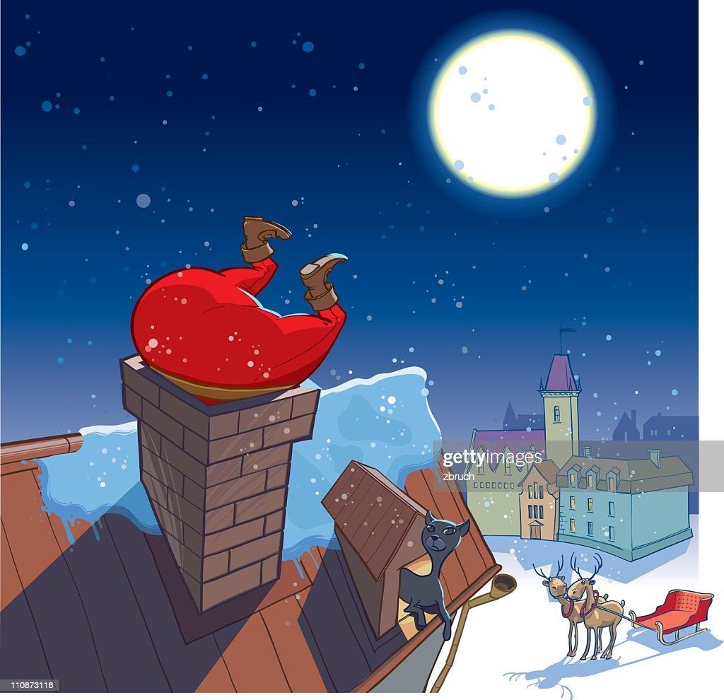 Santa's visit : stock illustration