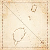 Sao Tome and Principe map in retro vintage style - old textured paper