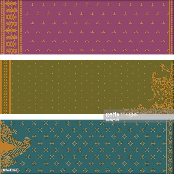 sari banners - sari stock illustrations