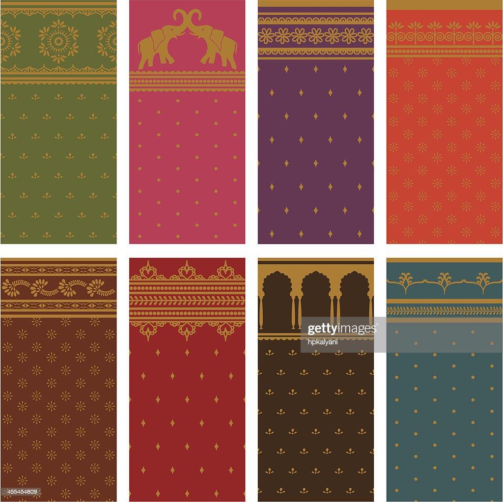 Sari Seamless Borders - Horizontal : Stock Illustration