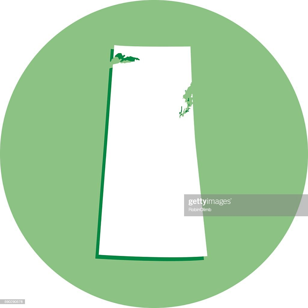 Saskatchewan Round Map Icon