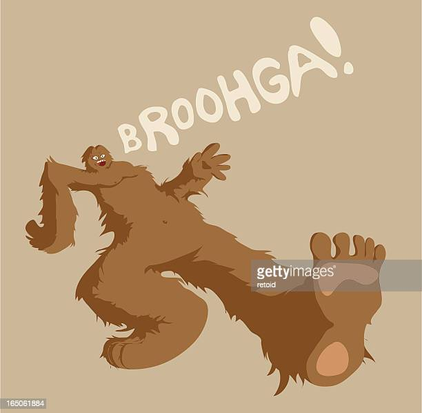 sasquatch - bigfoot stock illustrations