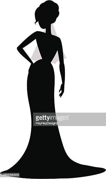 sassy bride - updo stock illustrations, clip art, cartoons, & icons