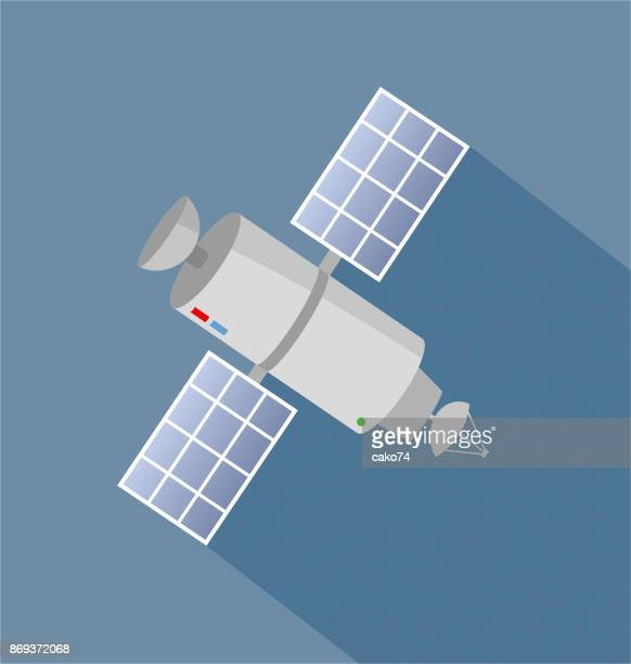 satelitte icon - antenna aerial stock illustrations, clip art, cartoons, & icons