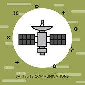 Satellite Communications Military Icon