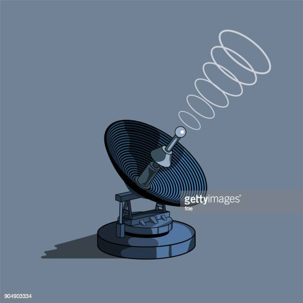 satellite dish ,communications tower,antenna - communications tower stock illustrations