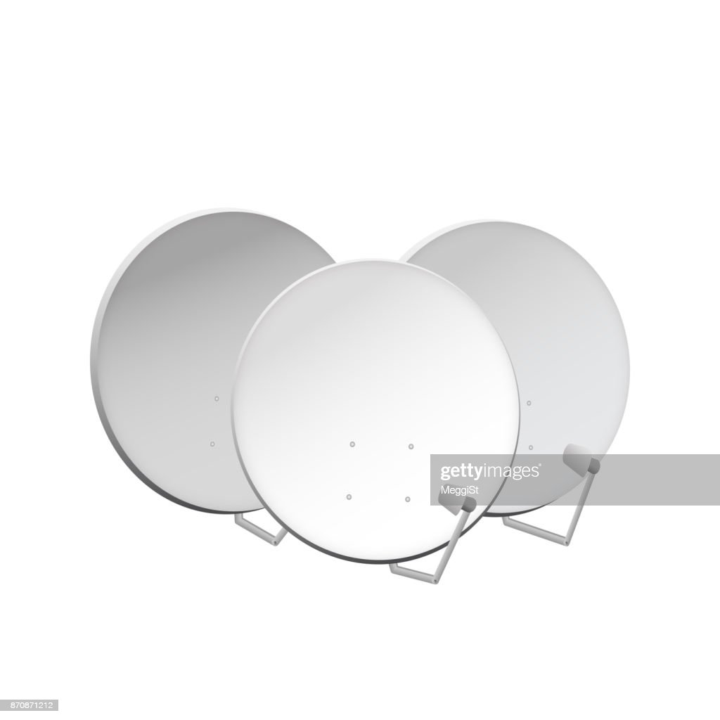 Satellite dish for digital connection.