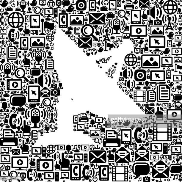 satellite dish Internet Communication Technology Vector Icon Pattern